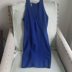 Bcbg blue bandage dress V neck 💙